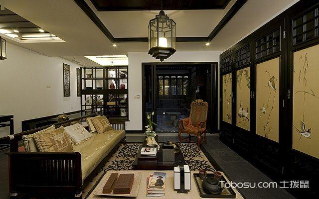 大户型中式客厅布置讲究之装饰画
