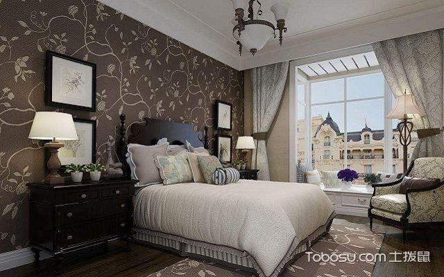 大户型室内装修壁纸搭配之卧室