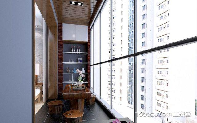 阳台收纳柜装修设计书柜