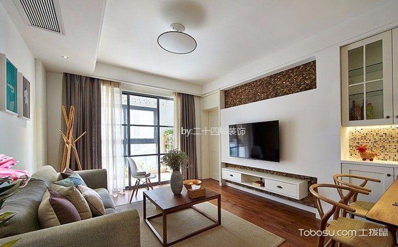 经典75平米二居室小户型北欧装修效果图