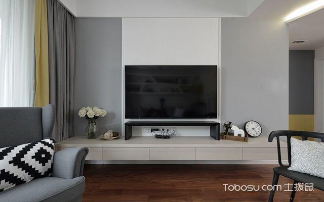 苏州98平北欧风格两房装修案例—电视背景墙