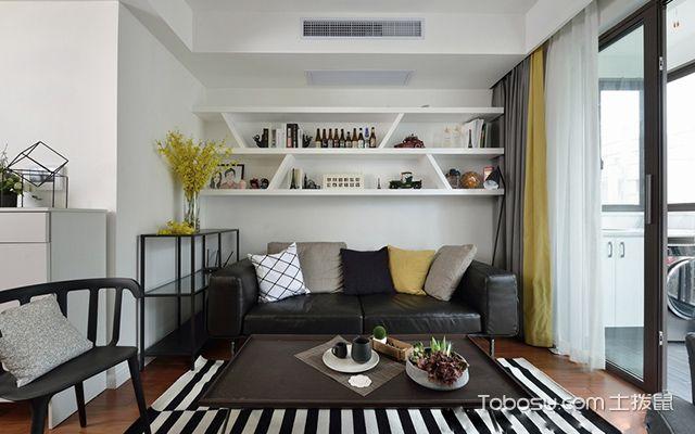 苏州98平北欧风格两房装修案例—客厅设计