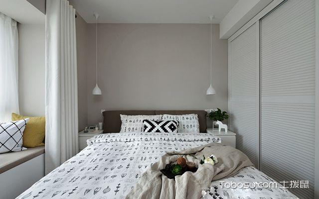 苏州98平北欧风格两房装修案例—卧室