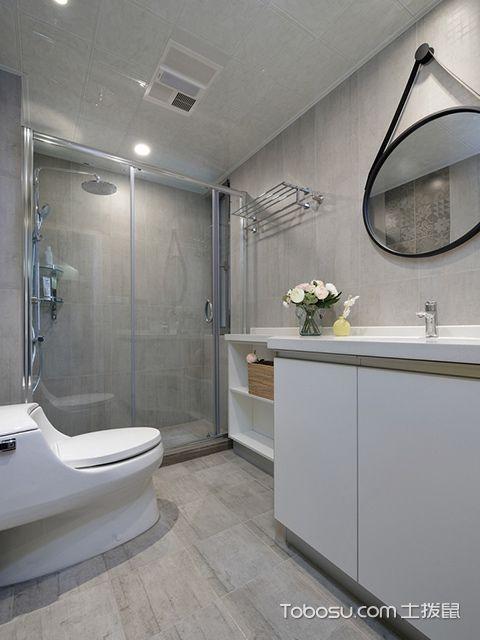 苏州98平北欧风格两房装修案例—卫生间