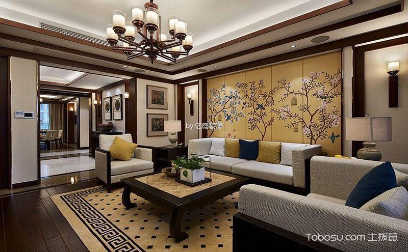 120平米新中式家居装修实景图