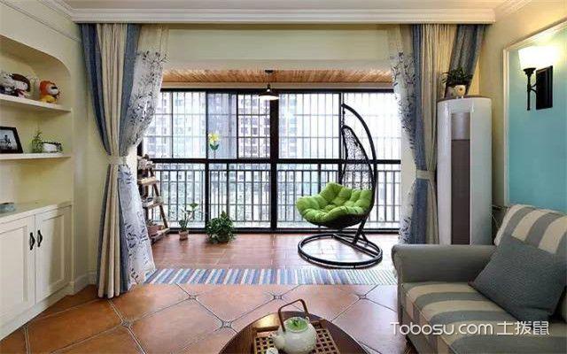 小户型阳台客厅一体装修图片