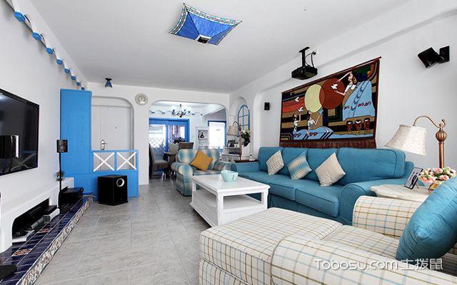 地中海风格客厅摆设案例五