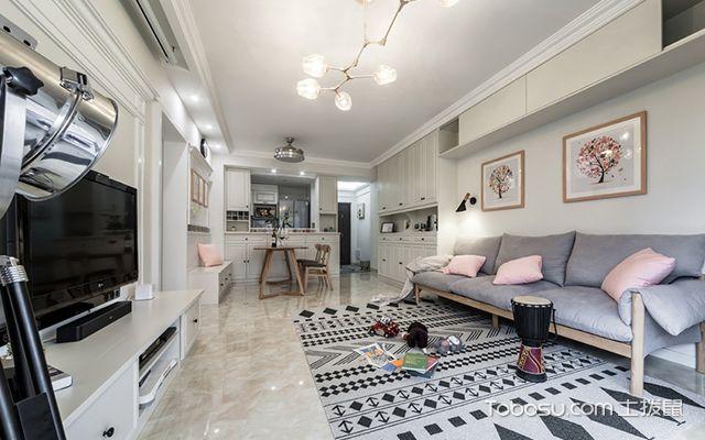 100平米老房装修案例客厅