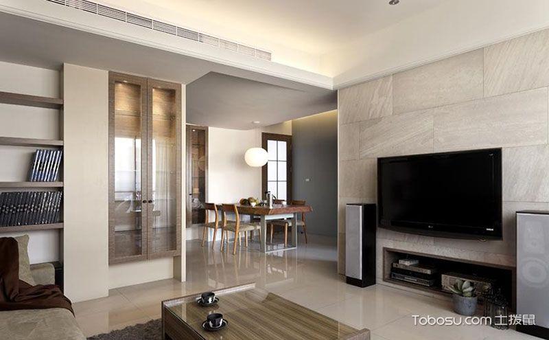 现代简约舒适三房一厅装修案例