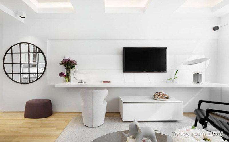 时尚客厅电视墙设计效果图