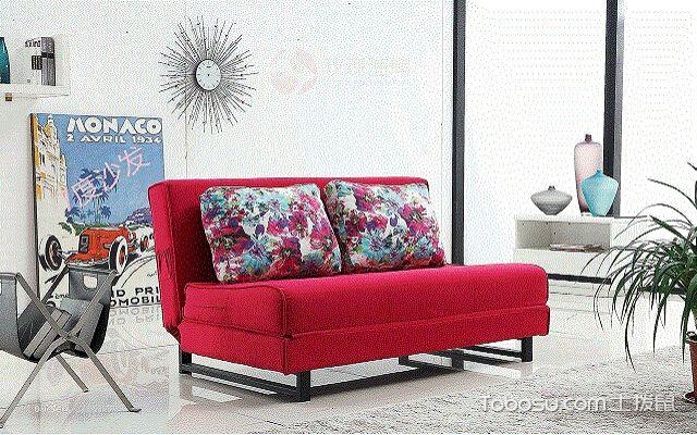 折叠沙发床图片怎么搭配艳丽