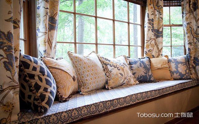 飘窗垫用什么材料好—绸缎垫