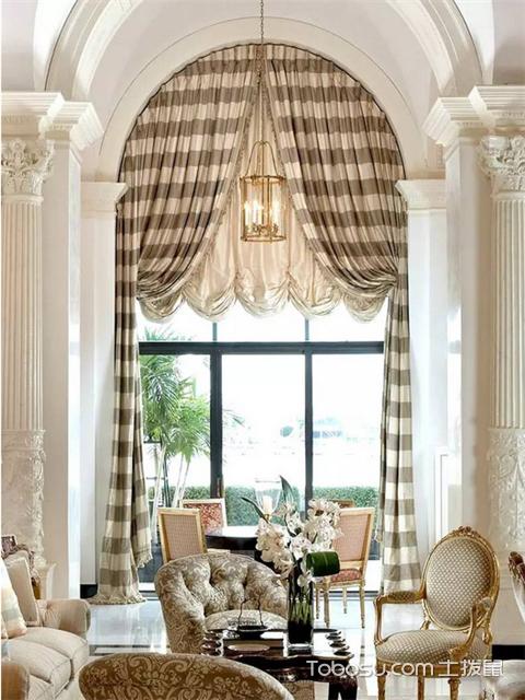 别墅窗幔图片