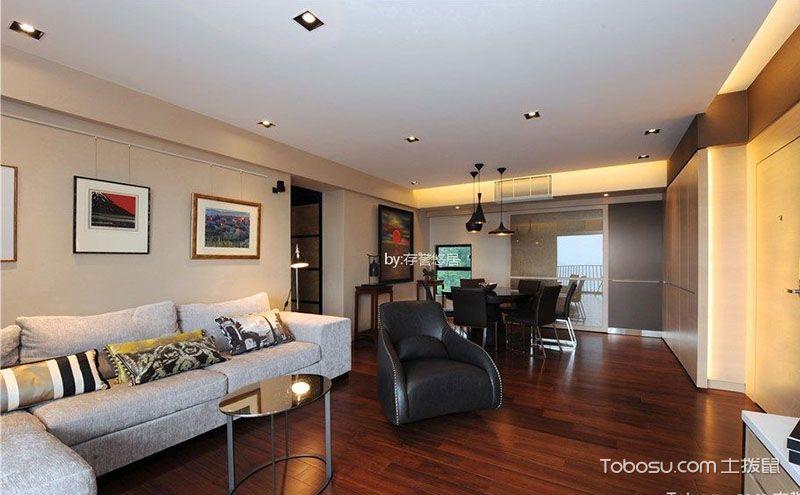 现代简约风格96平两室一厅小户型装修实例