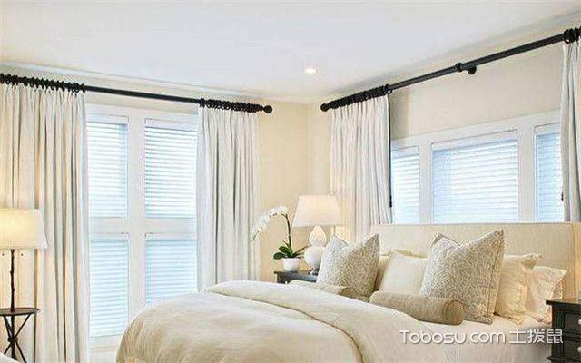 罗马杆窗帘安装