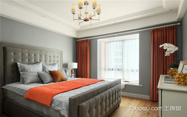 美式卧室窗帘装修效果图