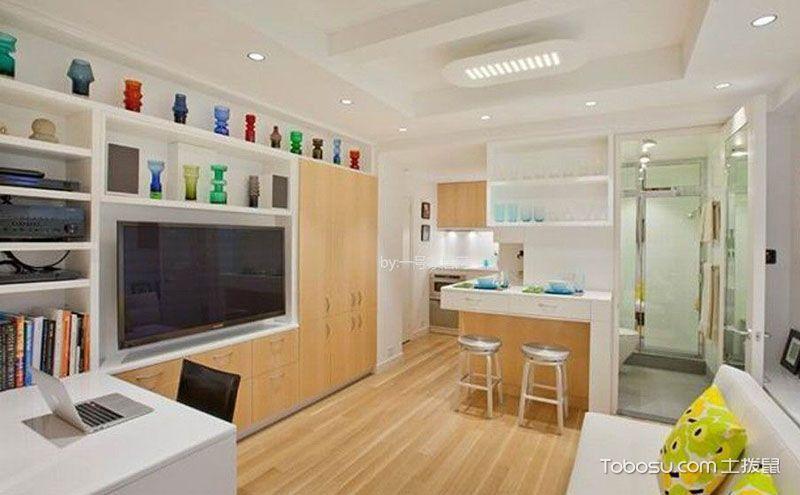 现代简约风格一居室30平米小户型家装案例