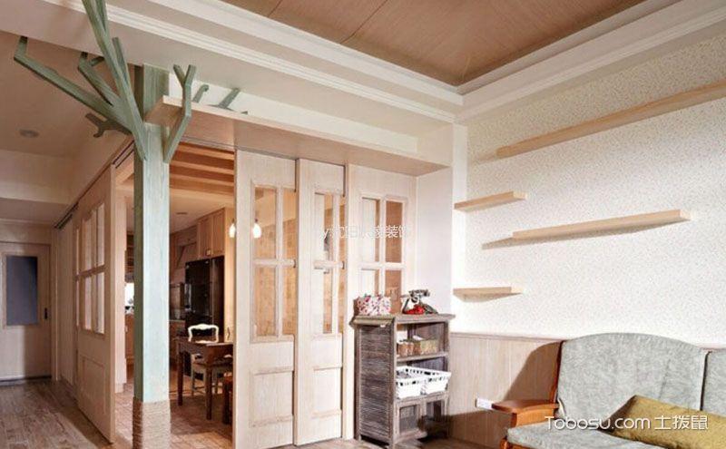 美式风格50平一室一厅装修图片