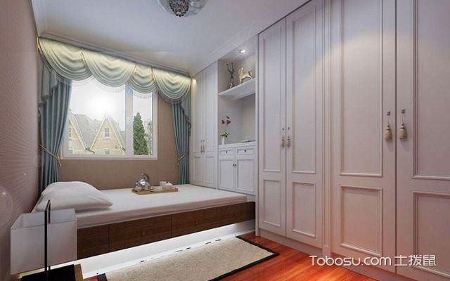 榻榻米卧室设计注意事项五:墙面装饰要简洁