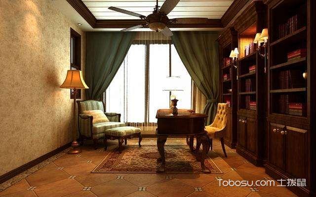 美式,书房设计风格