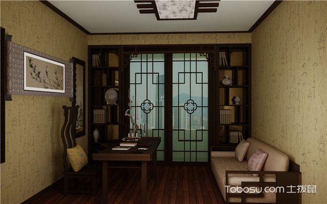 中式风格书房装修实景图