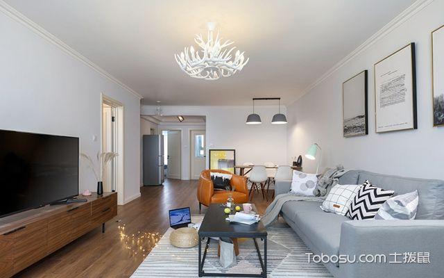 120平北欧风格三室两厅案例空间设计