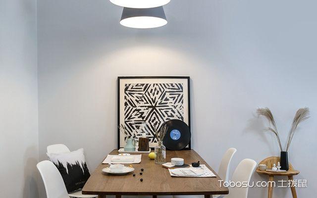 120平北欧风格三室两厅案例餐厅