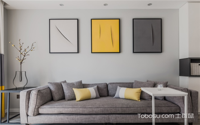 客厅沙发背景画