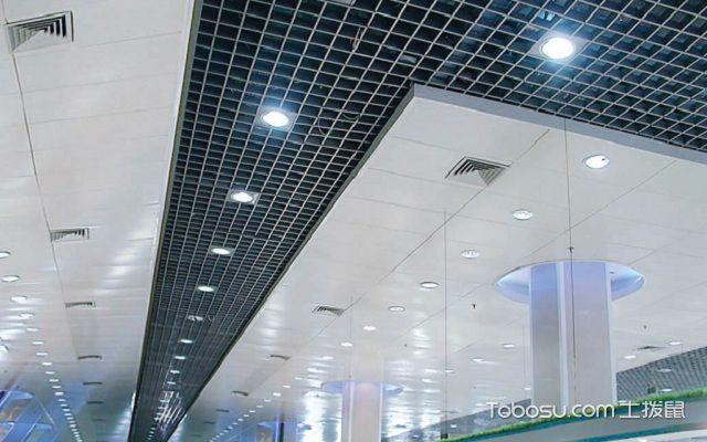 格栅吊顶如何装吸顶灯灯罩