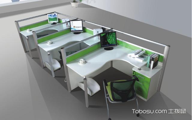 屏风式办公桌1字形