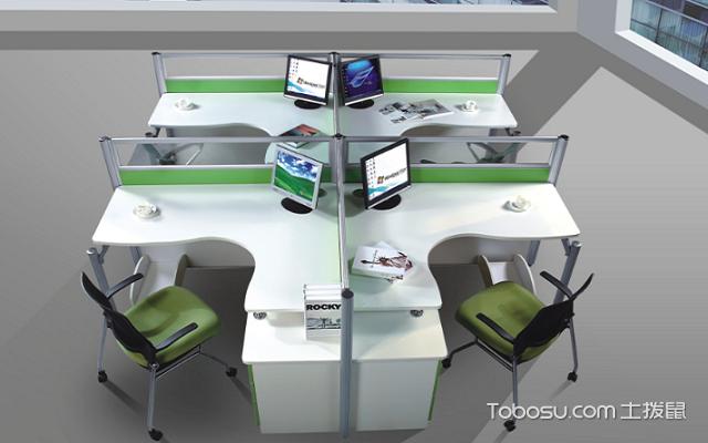 屏风式办公桌t型