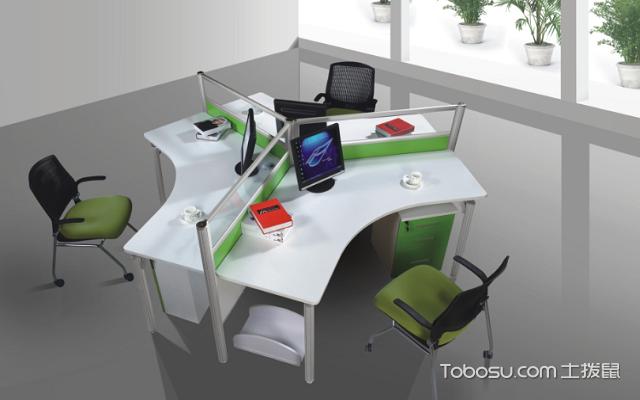 屏风式办公桌3人座