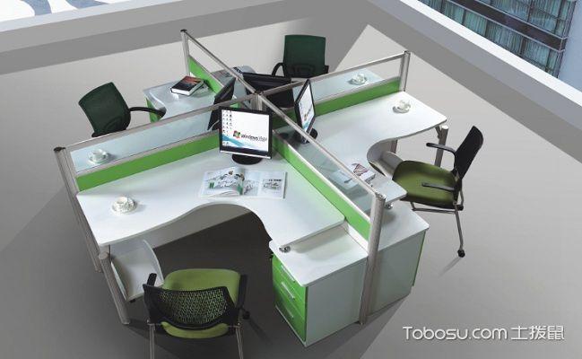 屏风式办公桌4人座