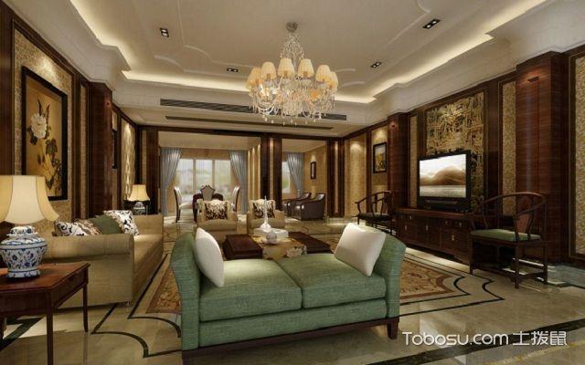 客厅吊灯尺寸选择不同空间