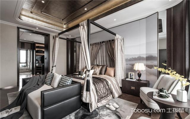 中式风格卧室软装搭配图