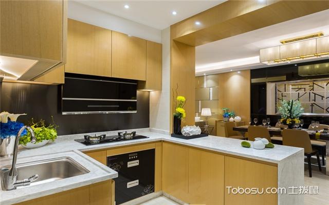 小平米开放式厨房设计图片