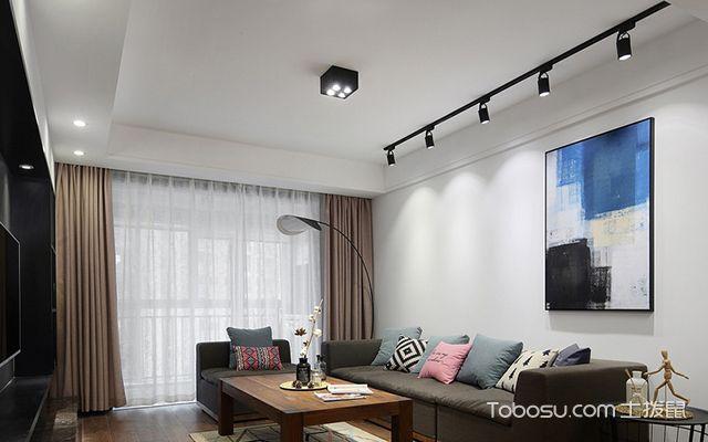 南京简约北欧三居装修图客厅设计
