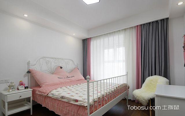 南京简约北欧三居装修图主卧