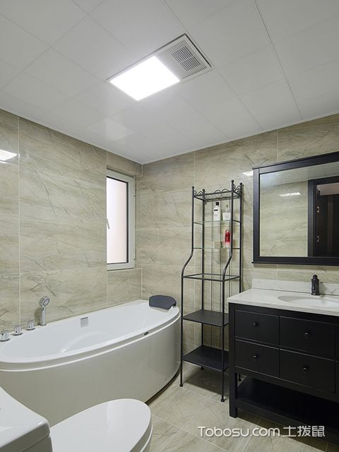 南京简约北欧三居装修图卫生间