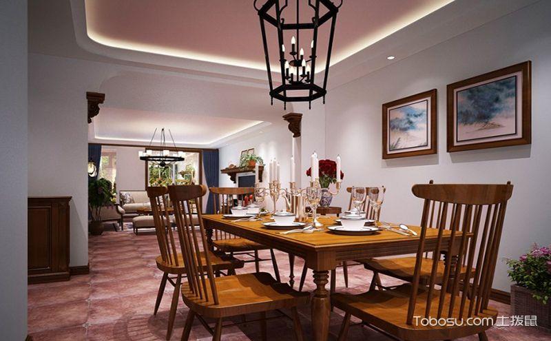 美式餐厅装修设计图,适合怀旧的氛围