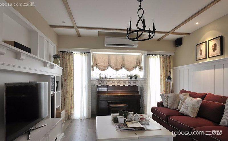 110平米经典田园风格三室两厅装修