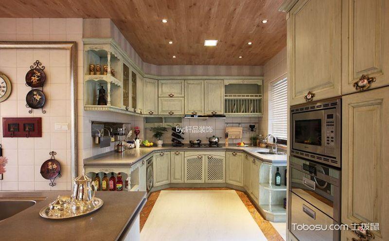古典风格欧式厨房吊顶装修设计图