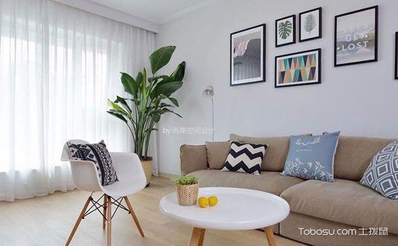 80平米北欧风格小户型一室一厅装修效果图