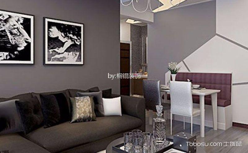 7万55平米现代风格小一室一厅装修图