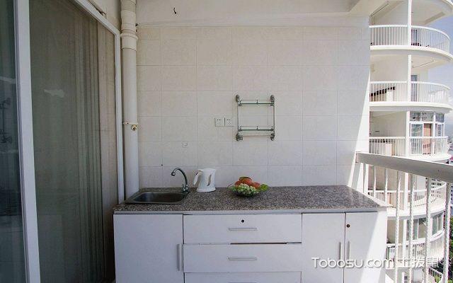 1米宽小阳台改厨房图大理石