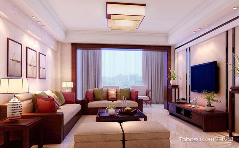 经典大气中式风格客厅装修图片