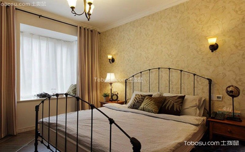 9万美式风格二居室70平小户型装修案例