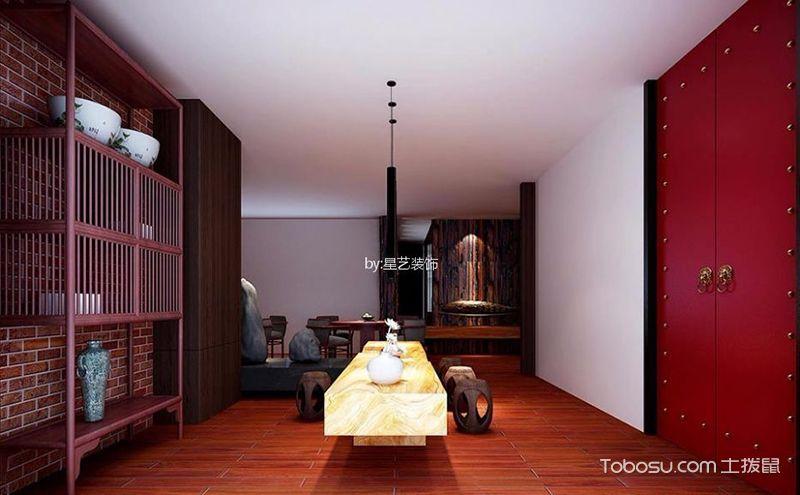 新中式风格服装店装修效果图,朽木与布艺相遇