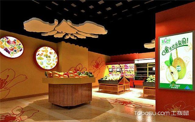 30平方小型水果店装修效果图