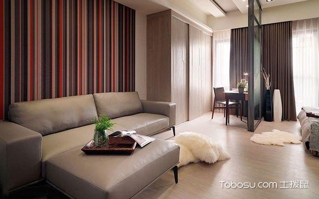 45平米二房一厅装修图客厅